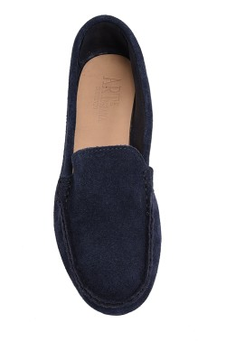 Blue Suede  Mocassin for Women