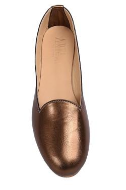 Pantofolina per bambina color bronzo