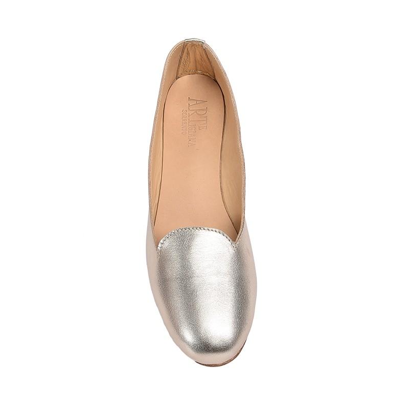 Pantofolina per bambina color platino