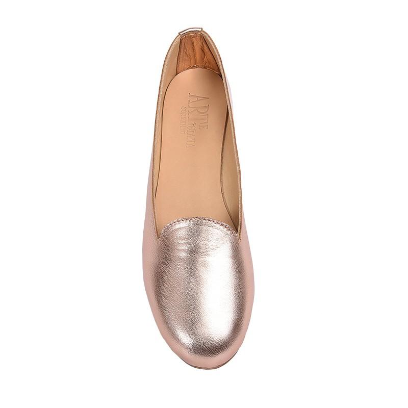 Pantofolina per bambina color rame