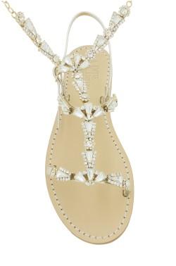 Sandali gioiello Valentina con cavigliera color platino