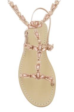 Sandali gioiello Valentina con cavigliera color rame