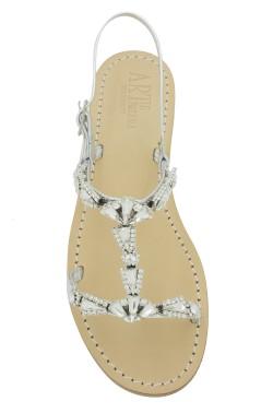 "Silver Coloured Jewel Sandal ""Valentina"""