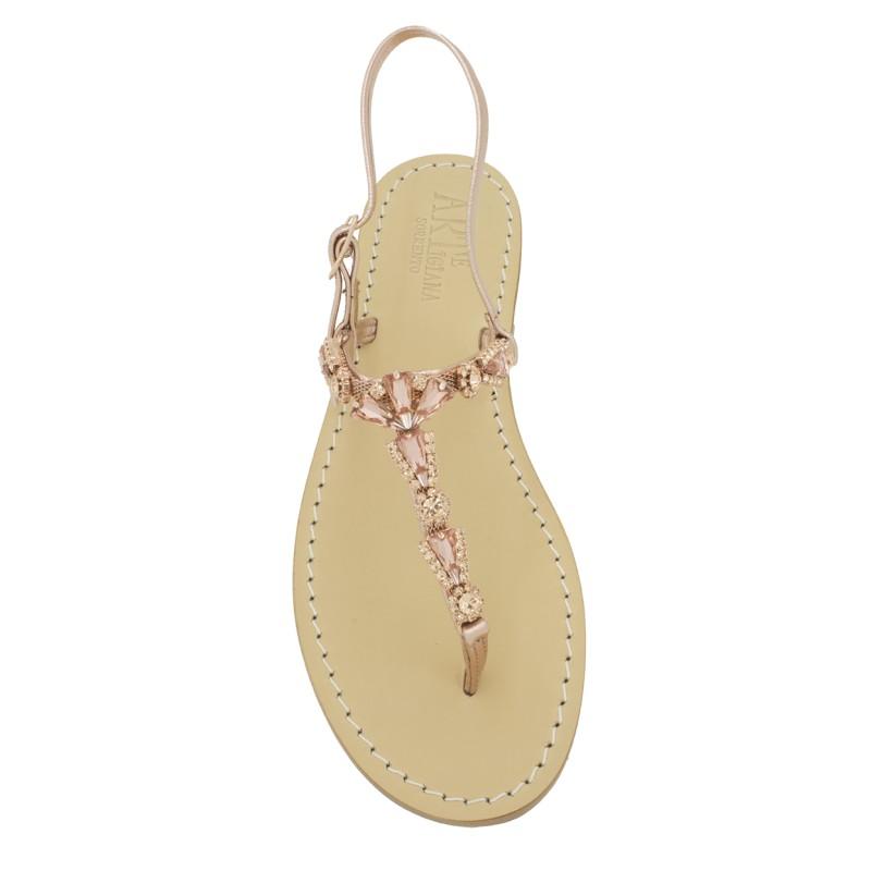 Sandali gioiello Valentina color rame