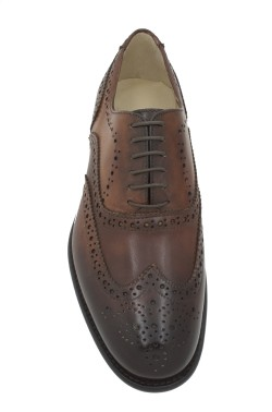 Classic leather brown shoes inglese model witht buckles
