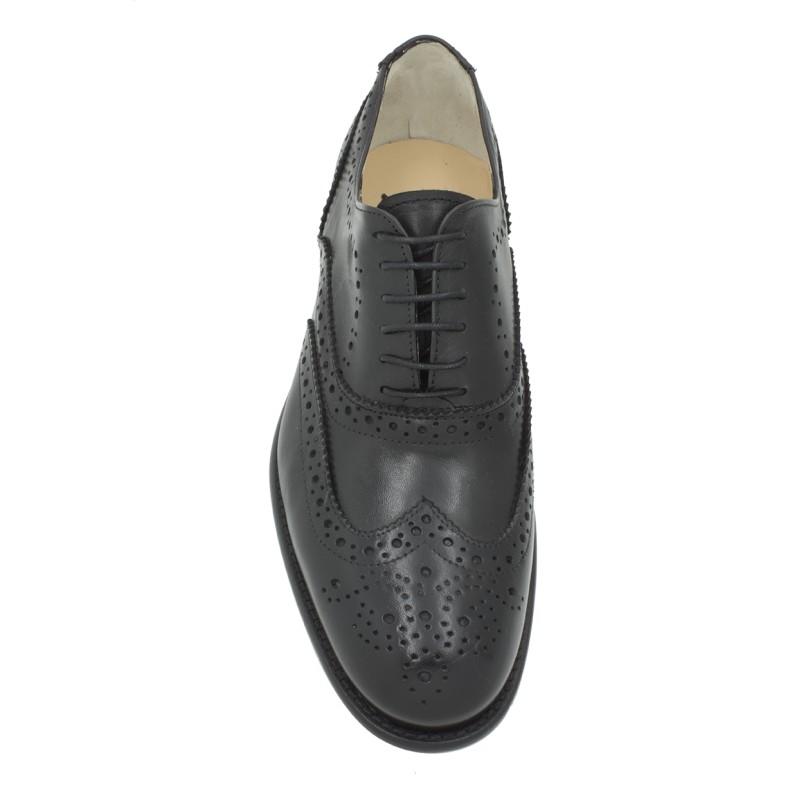 Scarpa liscia modello derby con lacci color nero