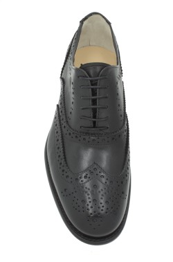 Classic black college shoes inglese model witht laces
