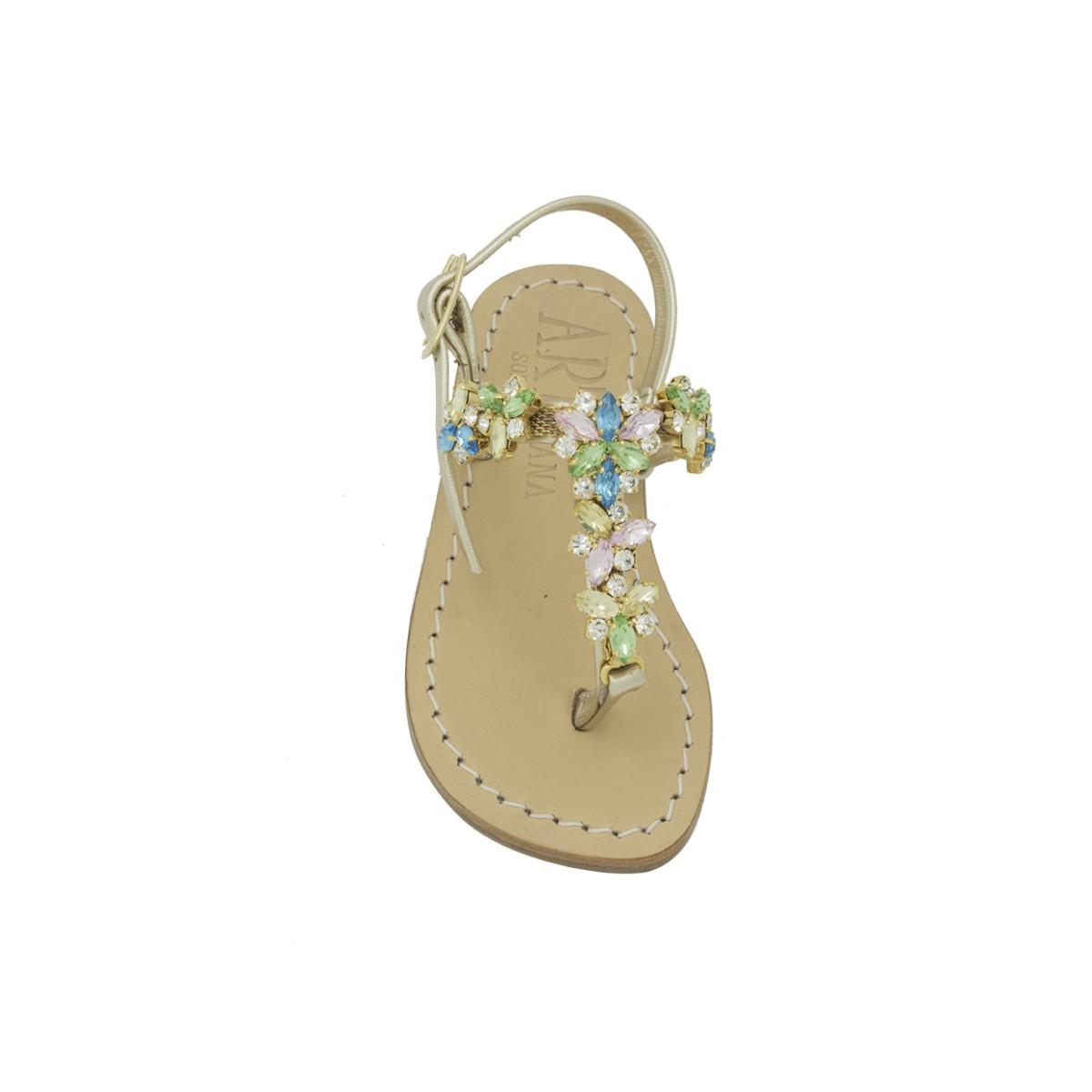 Sandali Allegra per bambina con pietre multicolore. Loading zoom 161b6966ca7