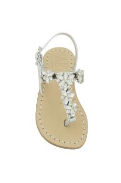Sandalo Allegra color argento con pietre