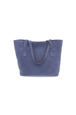 Borsa Bag scamosciata color jeans