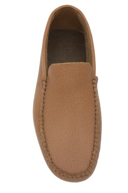 tan Mocassin in calf leather