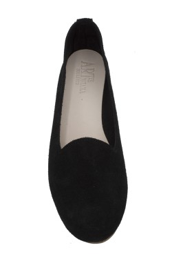Pantofolina donna scamosciata nero
