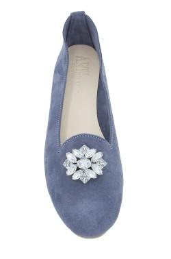 Pantofolina queen donna scamosciata jeans