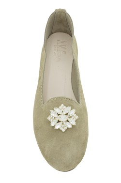"Beige Suede ""Queen""  Slipper for Women"