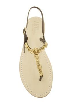 """bronze Coloured Jewel Sandal """"Valentina"""""""