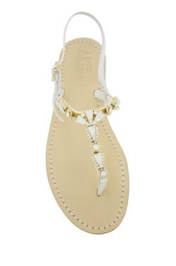 Sandali gioiello Valentina color bianco con pietre bianche