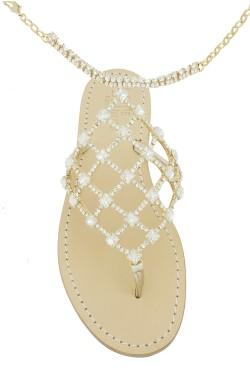 Sandali con cavigliera Laura color platino