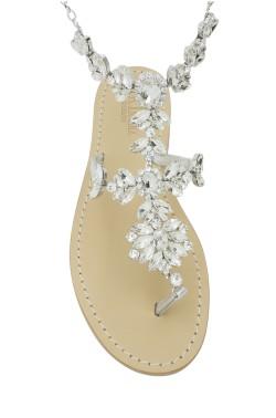 Sandali con cavigliera Anna color argento