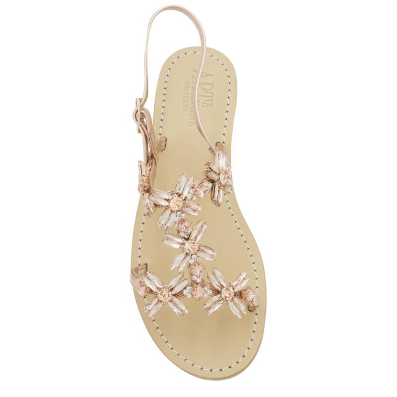 Sandali gioiello Margherita color rame