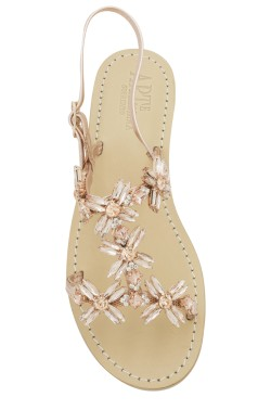 "Gold Rose Coloured Jewel Sandal""Margherita"""