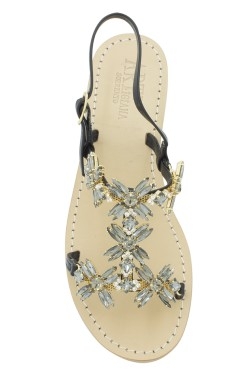"Black Jewel Sandal ""Margherita"""