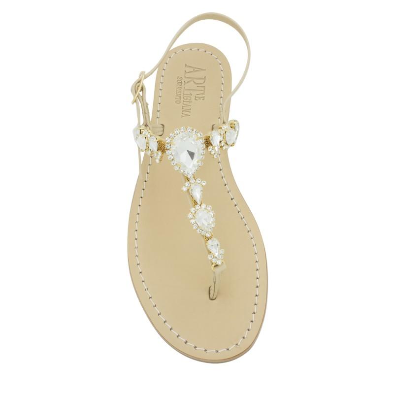 Sandali gioiello alessia colore naturale