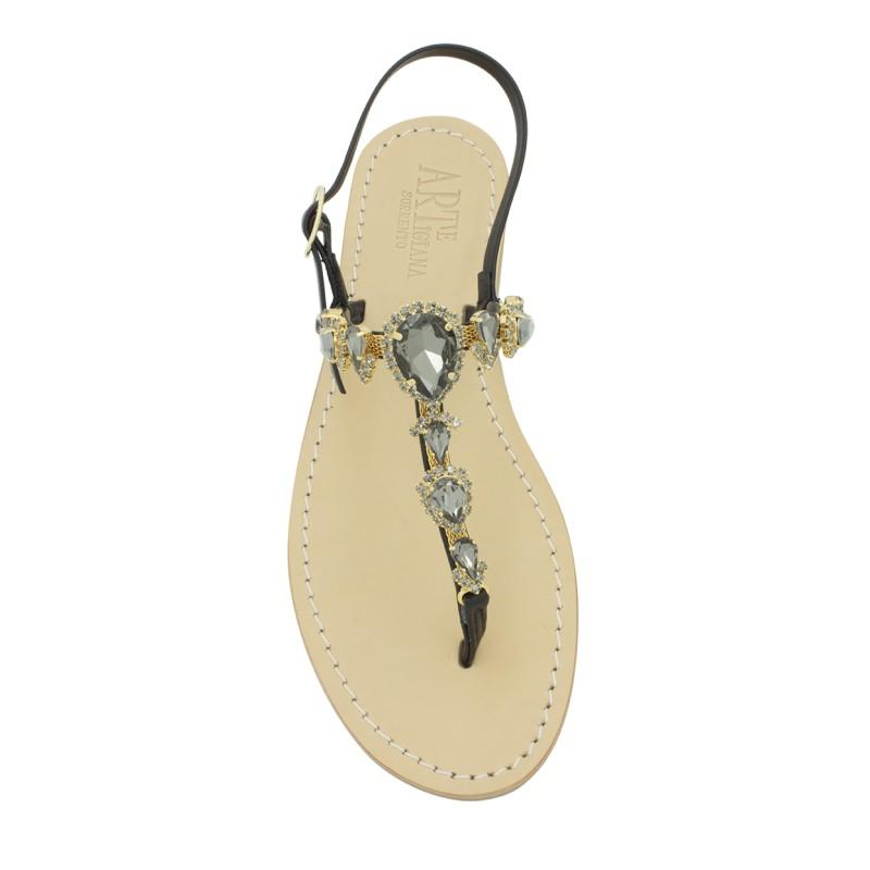 Sandali gioiello alessia color platino