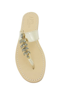 "Platinum Coloured ""Anna"" Sandal"