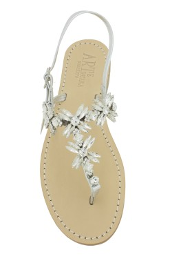 "Silver Coloured Jewel Sandal ""Margherita infrad."""
