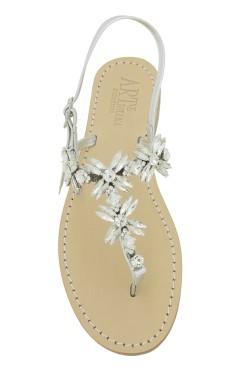 "Silver Coloured Jewel Sandal ""Margherita infrad."""