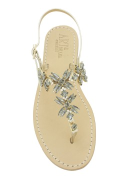 "Platinum Coloured Jewel Sandal ""Margherita infrad."""