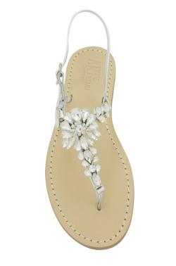 Sandali gioiello Loredana color platino con pietre argento