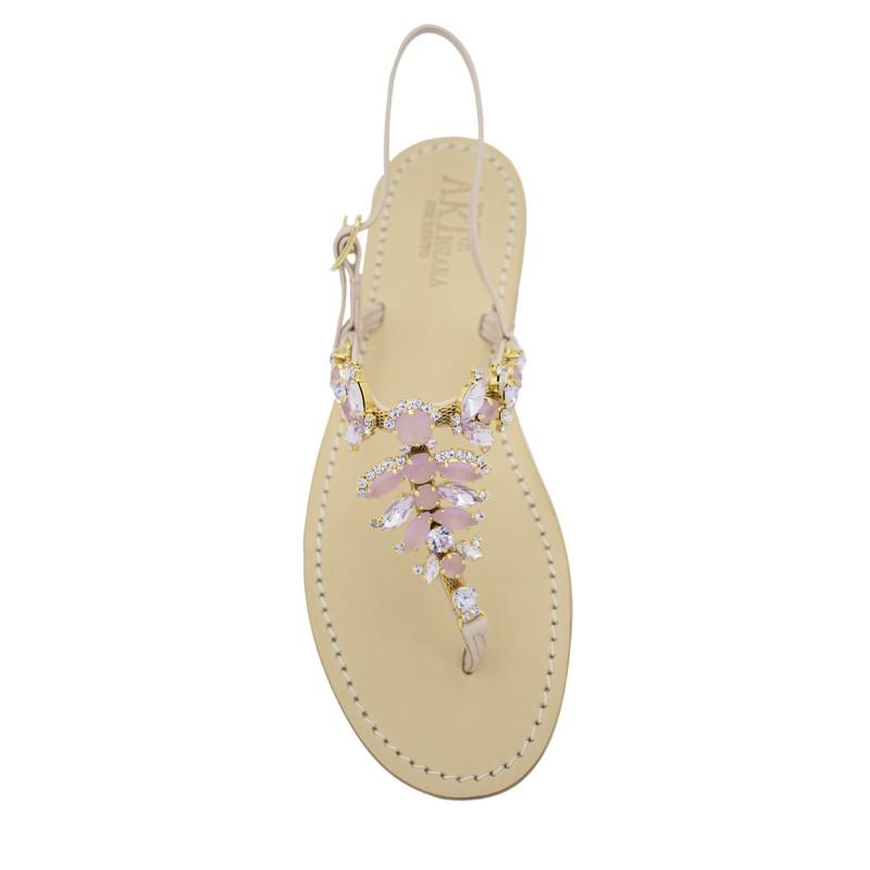 Sandali gioiello Olga color rosa cipria