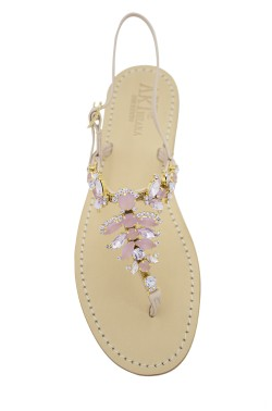 "light pink Coloured Jewel Sandal ""Olga"""
