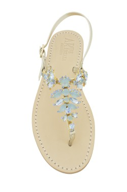 "jeans  Coloured Jewel Sandal ""Olga"""