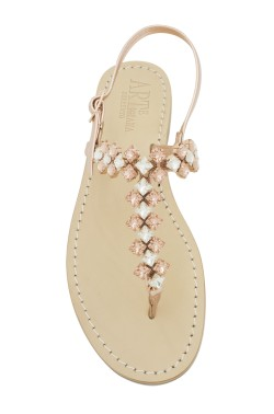 "Rose gold  Coloured Jewel Sandal ""Cleopatra"""