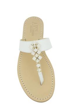 Sandalo gioiello Dea colore bianco