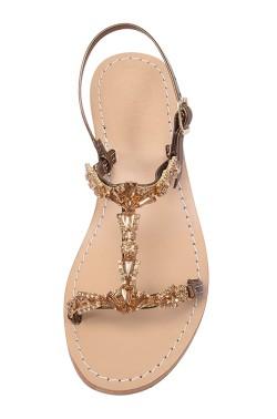 Sandalo gioiello Valentina color bronzo metallico