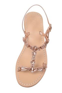 """Auburn Coloured Jewel Sandal """"Valentina"""""""