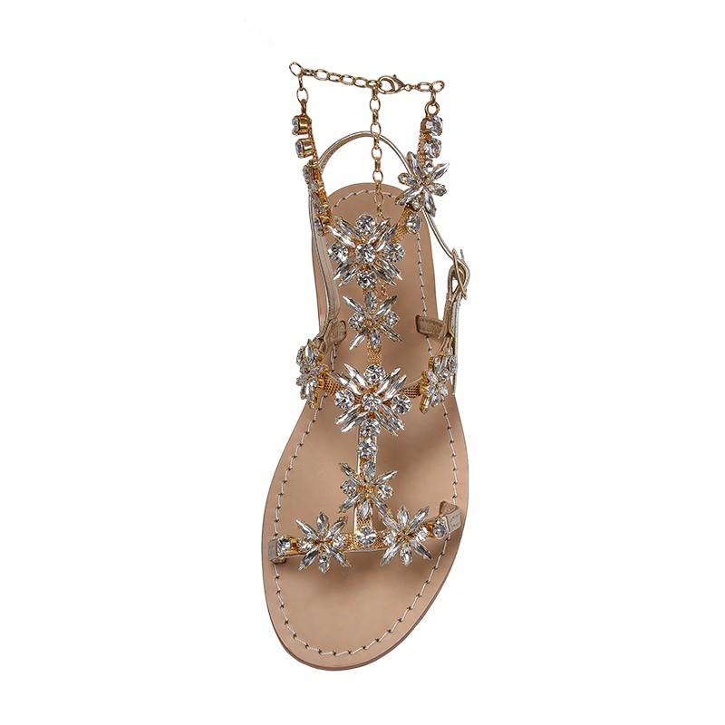 quality design ae6e5 72a57 Sandali gioiello con cavigliera Margherita color platino