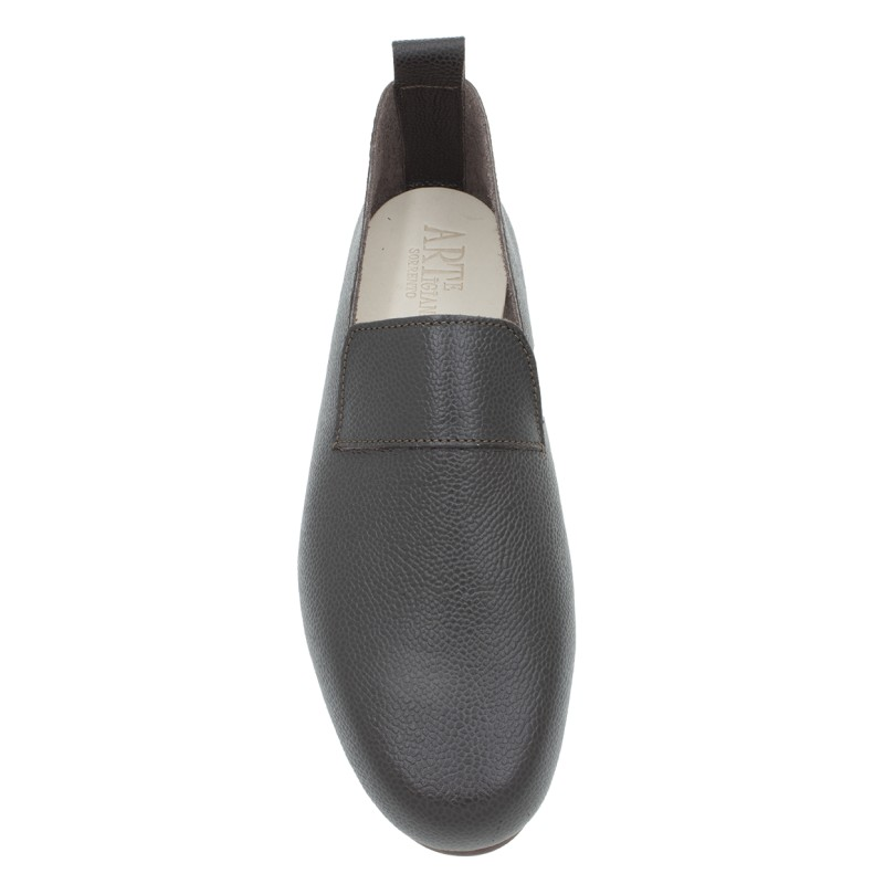 moccasin King hammered calf leather chocolate