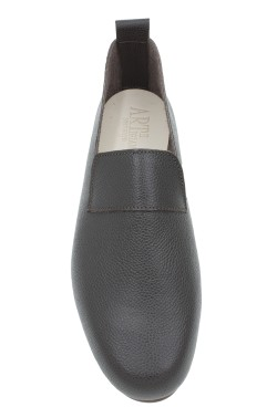 "Moccasin ""King"" hammered calf leather chocolate"