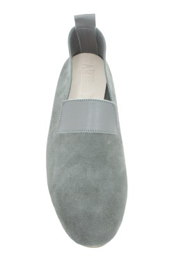 "Moccasin ""King"" suede calf leather grey"