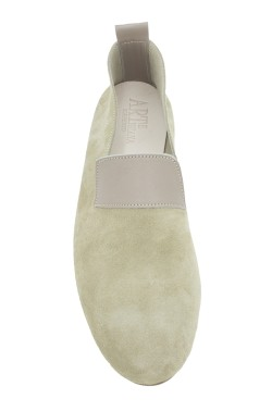 "Mocassino ""King""  vitello scamosciato beige"