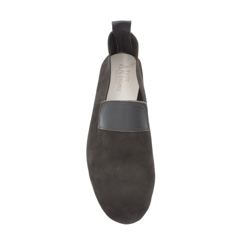 """Moccasin """"King"""" suede calf leather chocolate"""