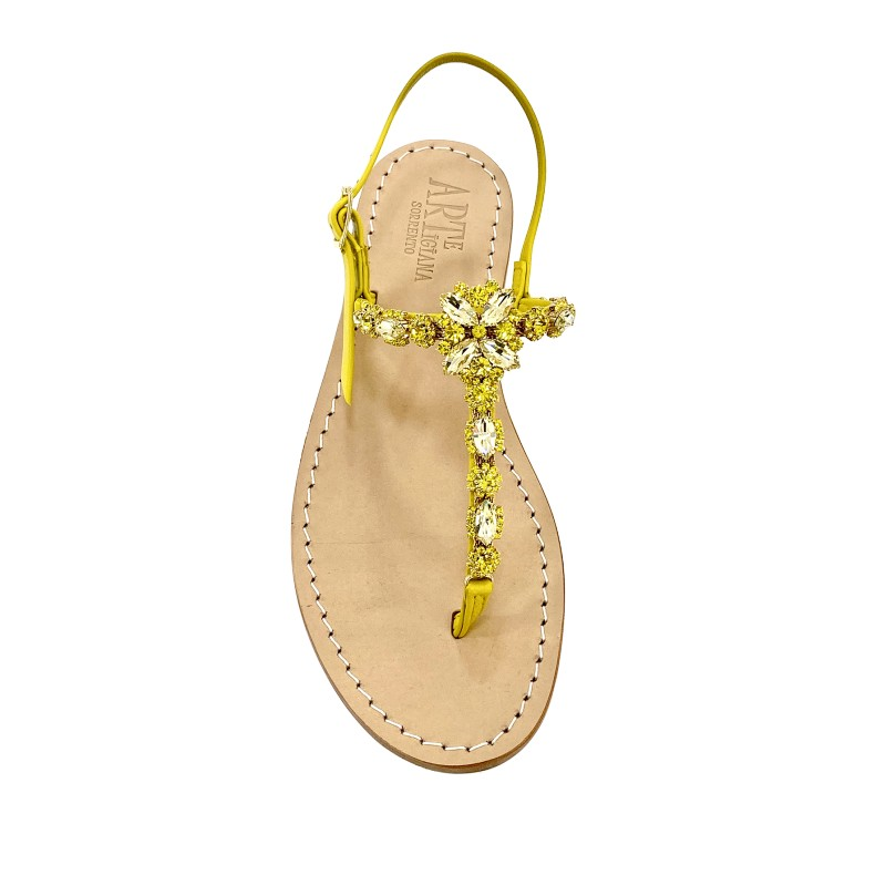 "Yellow Jewel Sandal ""Sole"""