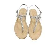 Sandali gioiello Loredana color argento con pietre cristallo