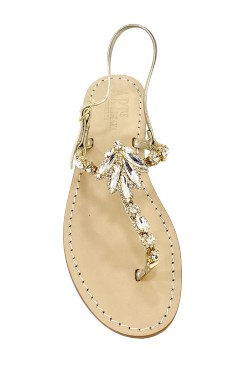 "Platinum Coloured Jewel Sandal ""Valentina"""