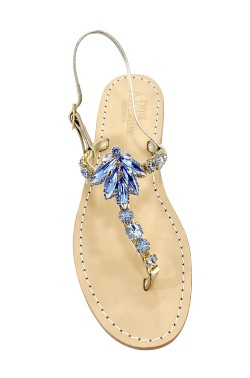 "jeans Coloured Jewel Sandal ""Valentina"""