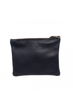 Blue Natural Calf Leather Hold Everything Case